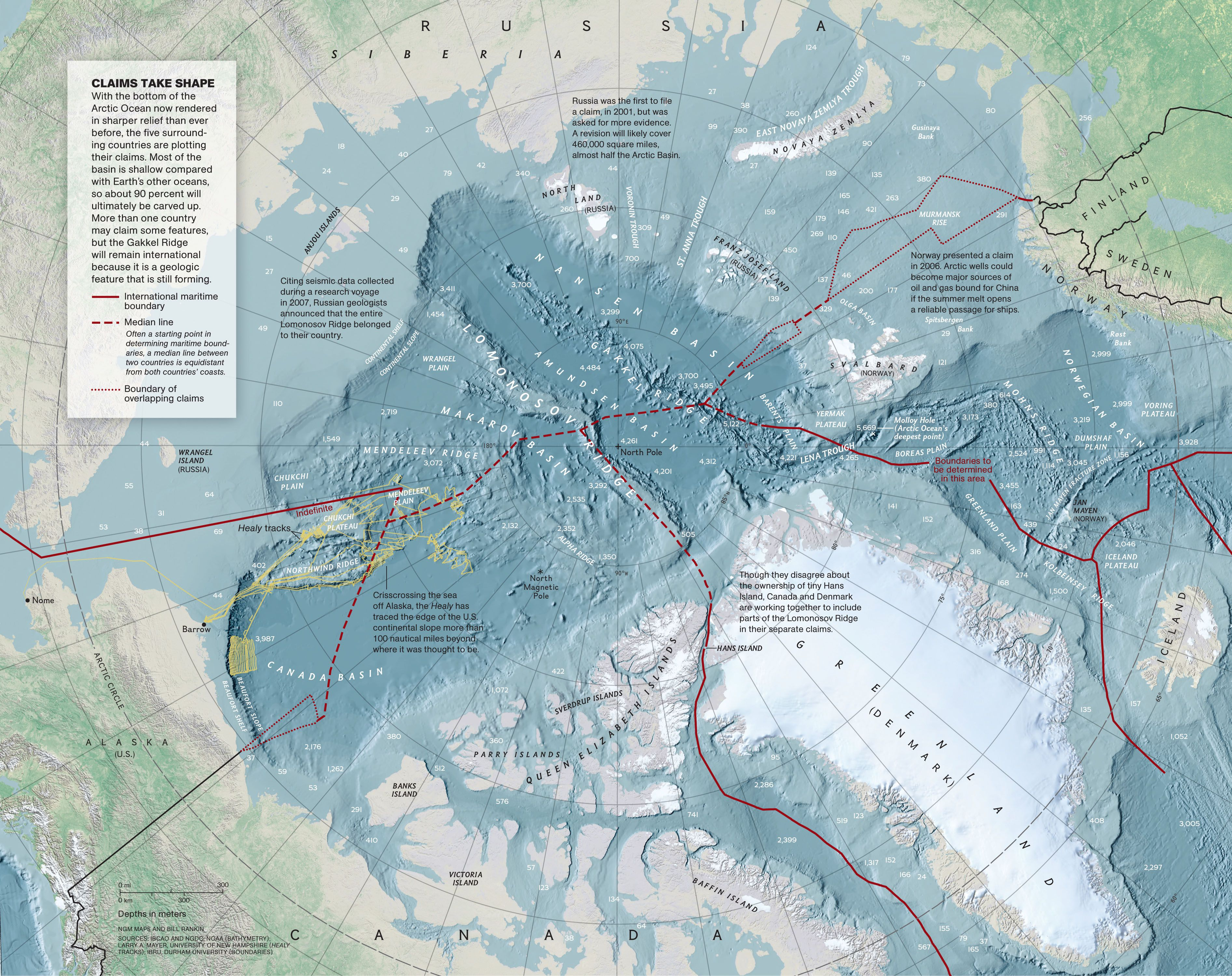 Arctic Circle Russia Map.North Pole Map National Geographic Society