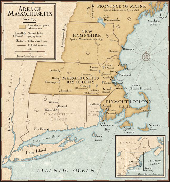 Image result for massachusetts and maine map colonial