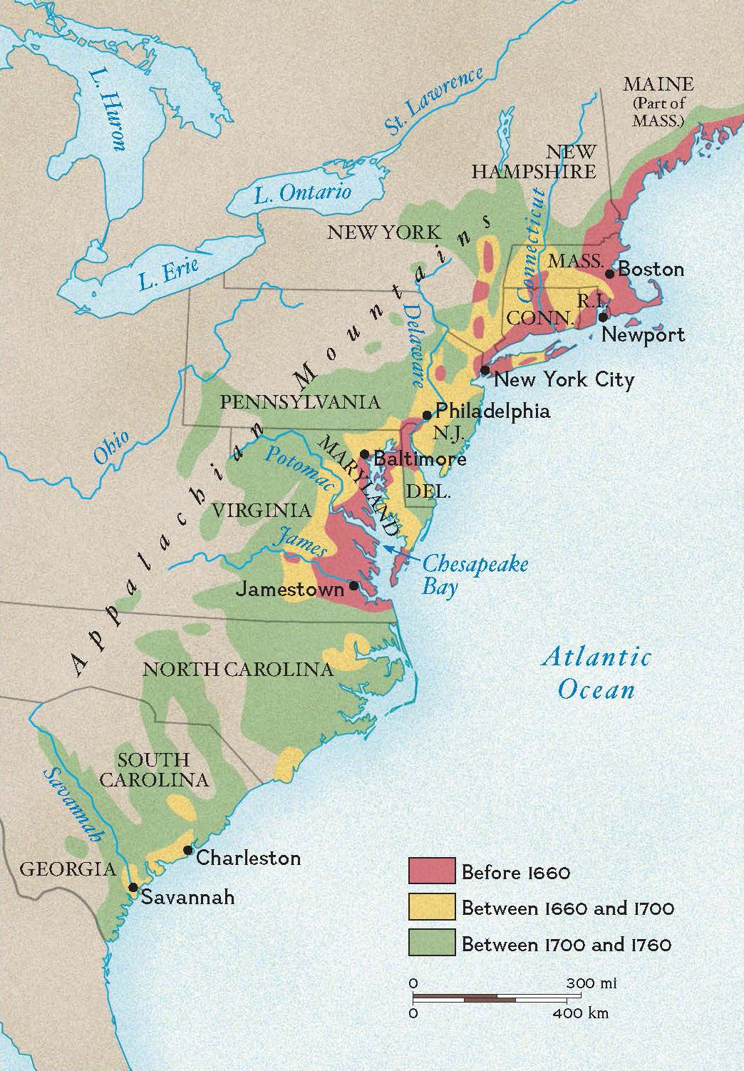 Growth of Colonial Settlement | National Geographic Society on
