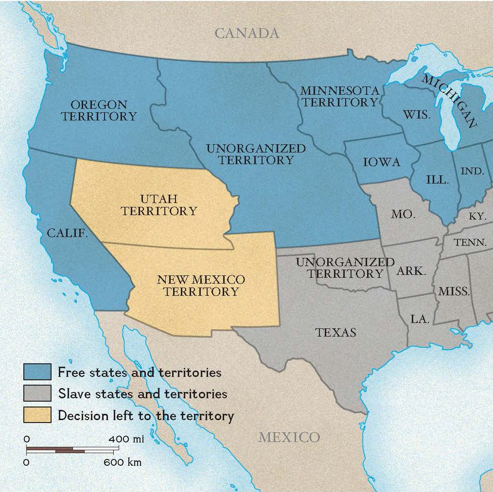 Compromise Of National Geographic Society - Compromise of 1850 map