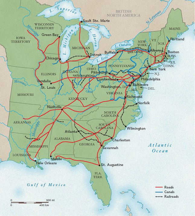 Roads, Canals, and Rails in the 1800s | National Geographic Society