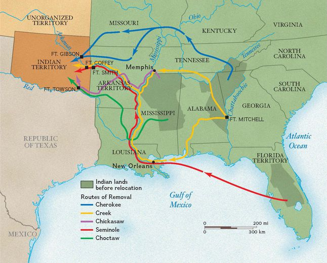 Native American Removal from the Southeast
