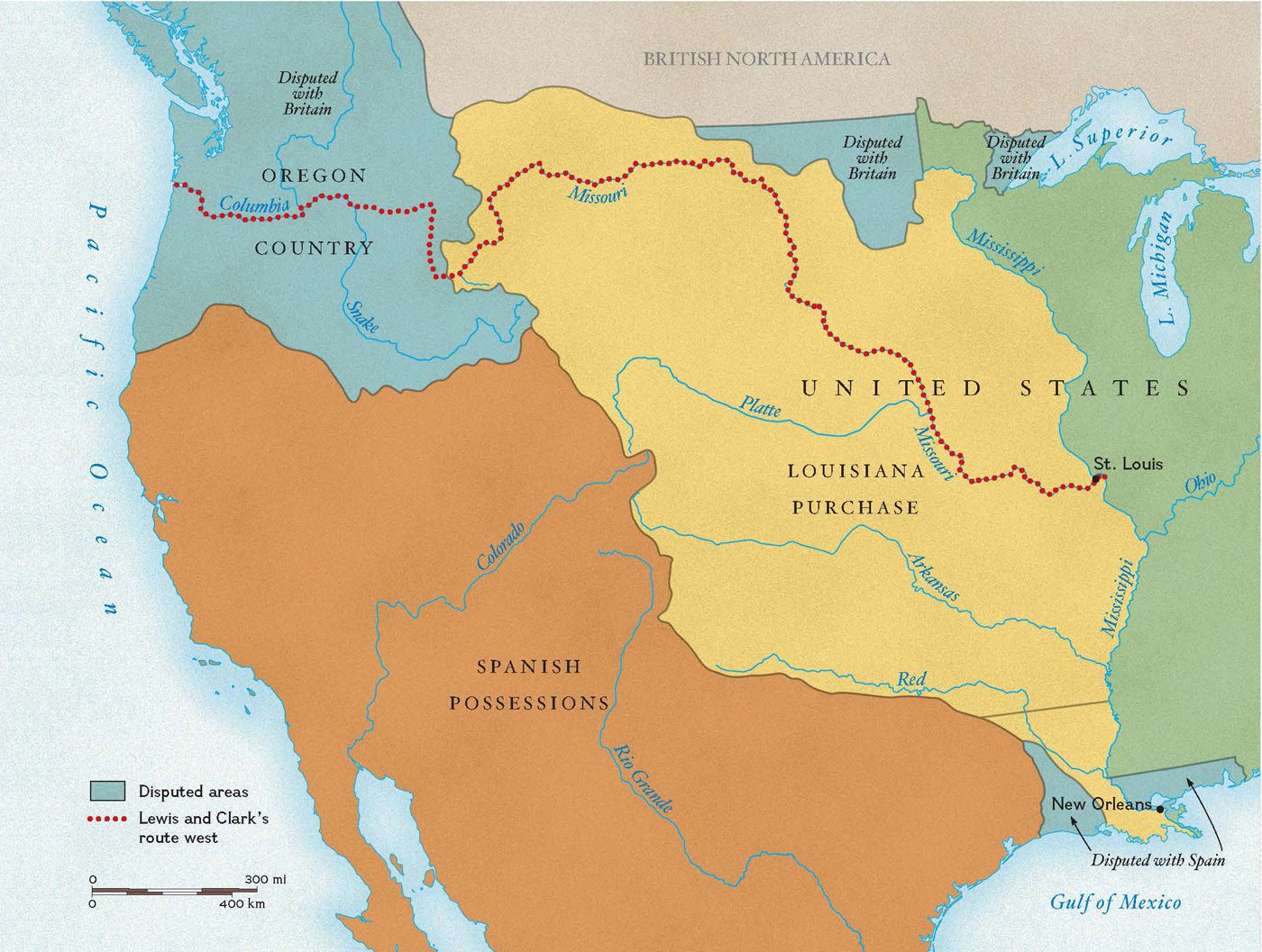 Map Of Louisiana Territory.Exploring The Louisiana Purchase National Geographic Society