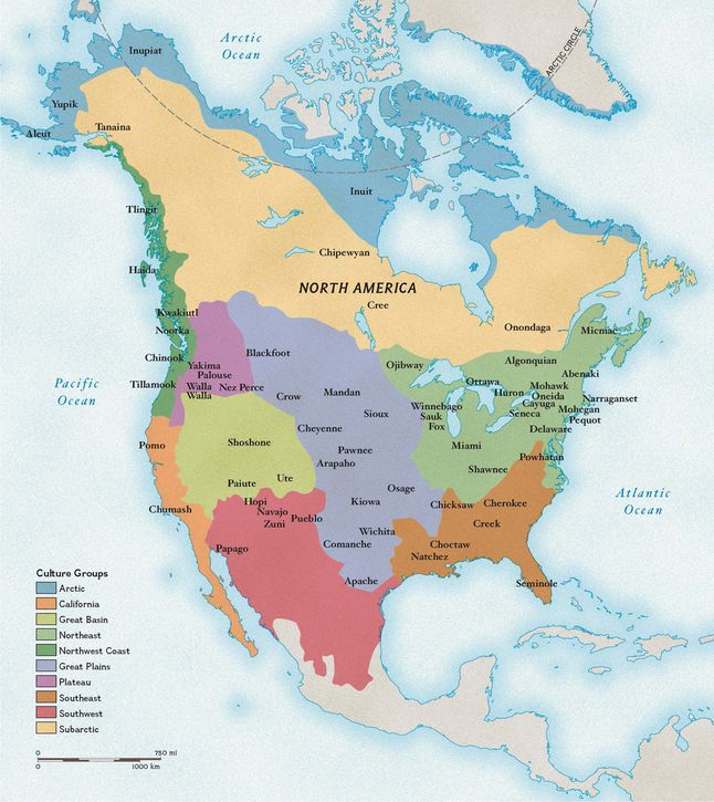 Native American Cultures National Geographic Society - Map of native american reservations in the us