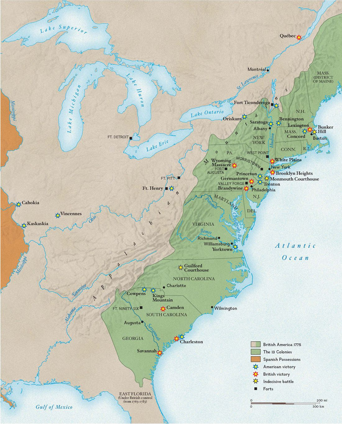 Revolutionary War Battles National Geographic Society - Us-history-map-activities-answer-key-american-revolution