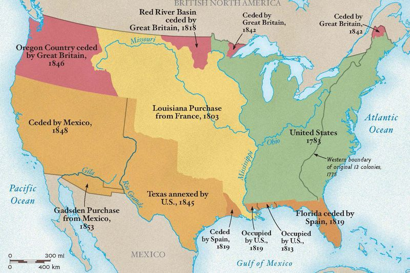 Westward Expansion National Geographic Society - Map-of-us-during-westward-expansion