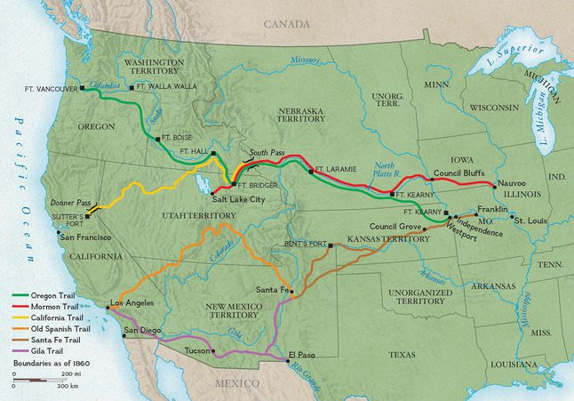 Map Of The West Trails West | National Geographic Society