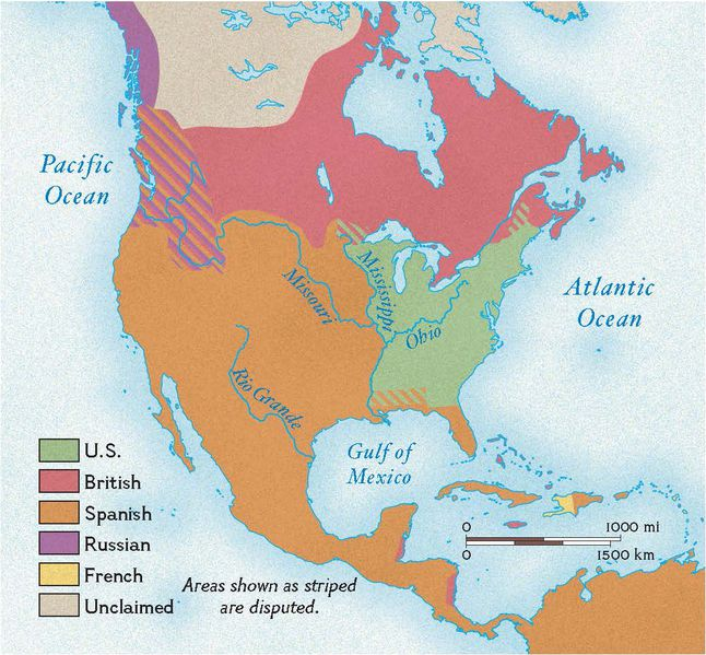 Treaty Of Paris National Geographic Society - Map of us in 1783