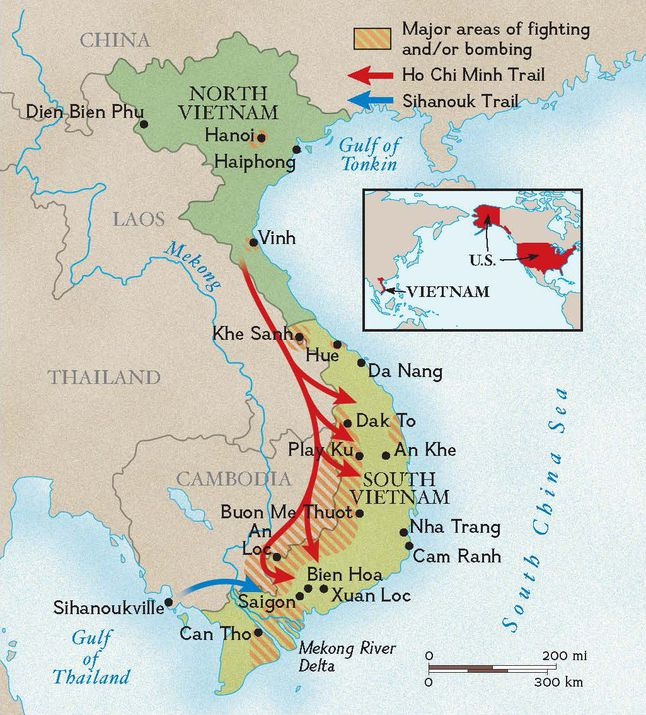 Map Of Asia Gulf Of Tonkin.Vietnam War National Geographic Society