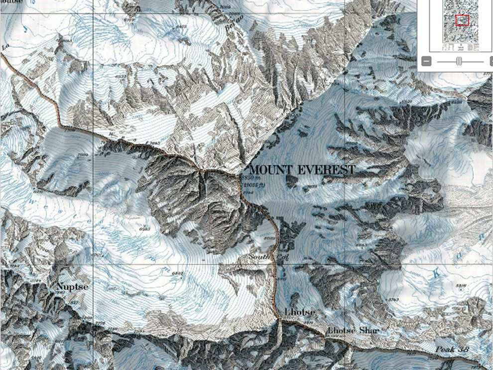 topographic map of mount everest Mapping The Shape Of Everest National Geographic Society