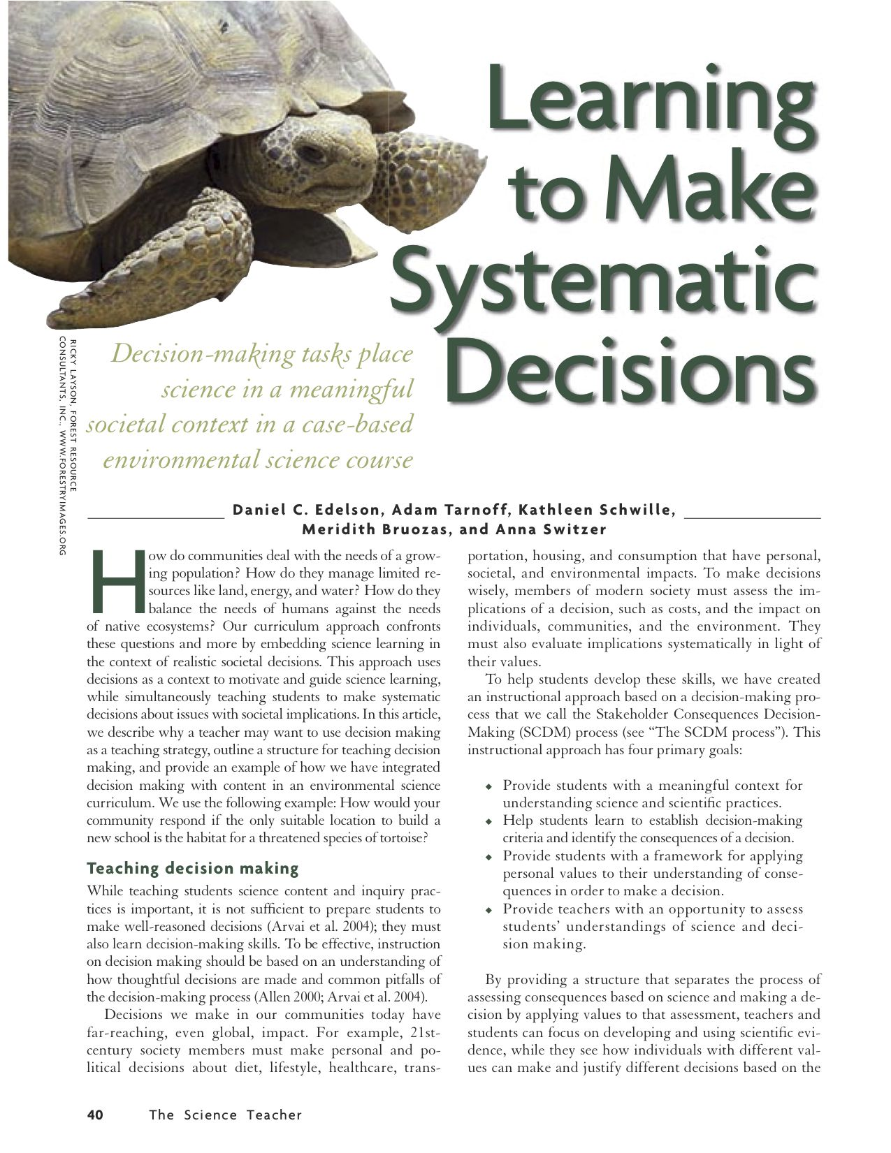 Learning to Make Systematic Decisions | National Geographic