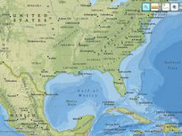 Map of the Gulf of Mexico.