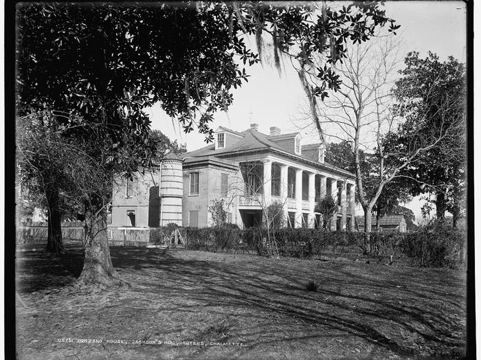Photo of the Bonzano House, used by Andrew Jackson during the Battle of New Orleans