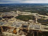 A natural gas processing plant changes the face of the tundra in Siberia, Russia.