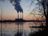 This coal-fired power plant sits on the north bank of the Missouri River in Labadie, Missouri.