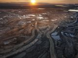 Aerial of Suncor Millenium Mine, north of  Fort McMurray, Canada.