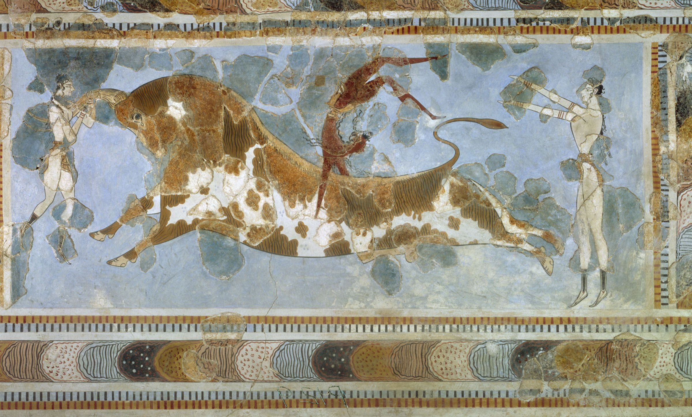 Wall Paintings From The Minoan Culture