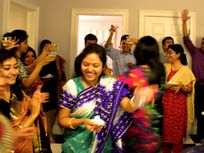 Photo of a celebration in an Indian community.