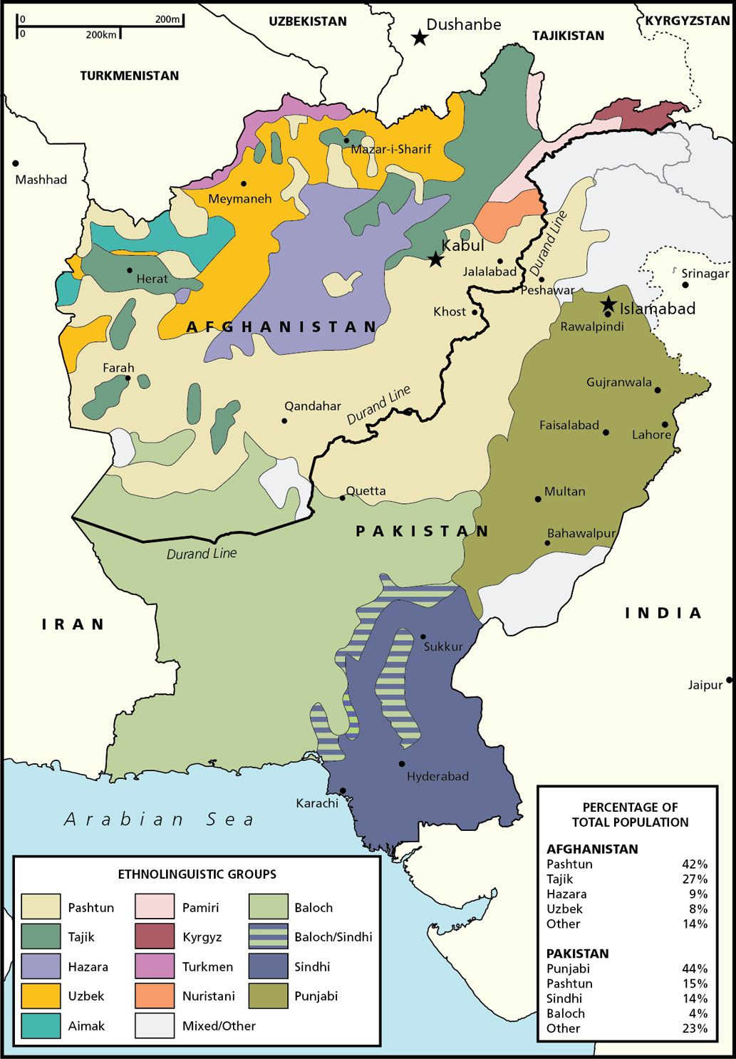 Afghanistan And Pakistan Ethnic Groups National Geographic Society - Map pakistan