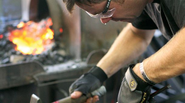 "<p class=""p1"">Blacksmithing classes include instruction on design, fabrication, and forging.</p>"