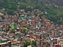 Photograph of favela in Brazil.