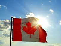 Photograph of Canadian flag.