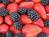 Picture of blackberries and strawberries.
