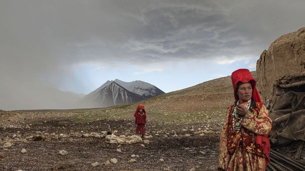 """<p class=""""p1"""">The fabled Silk Road has threaded through Afghanistan for centuries. Afghanistan's location, equidistant between the China Sea and the Mediterranean, made it a strategic ancient crossroads. It still is: These girls live in an ethnically Kyrgyz community in the Wakhan Corridor, a mountainous area straddling Afghanistan, Tajikistan, China, and Pakistan.</p>"""