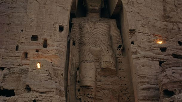 """<p class=""""p1"""">The Silk Road traded more than material goods. Buddhism, for example, spread to Afghanistan before migrating to China. Afghan Buddhism is perhaps best exemplified by the enormous statues in Bamiyan, Afghanistan, above. The """"Bamiyan Buddhas"""" were destroyed by the Taliban in 2001.</p>"""