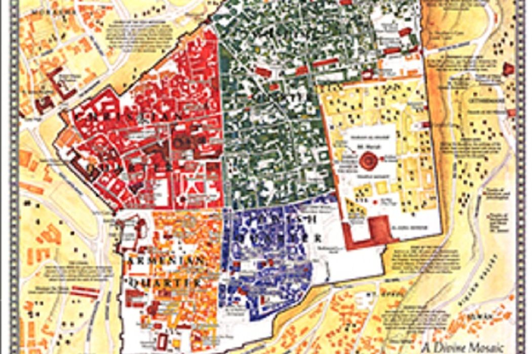 JERUSALEM National Geographic Society - Jerusalem map world