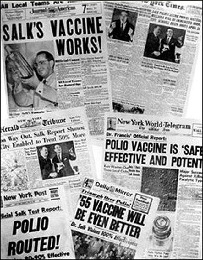 salk tests polio vaccine