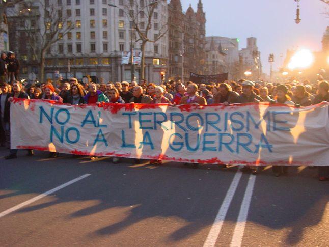 No to Terrorism, No to War