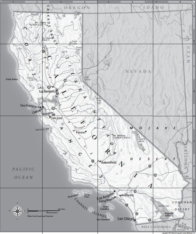 California Tabletop Map | National Geographic Society