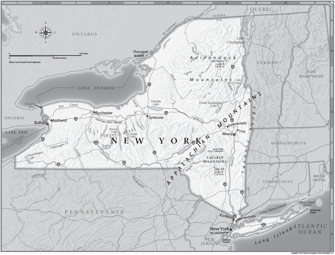 New York Tabletop Map National Geographic Society