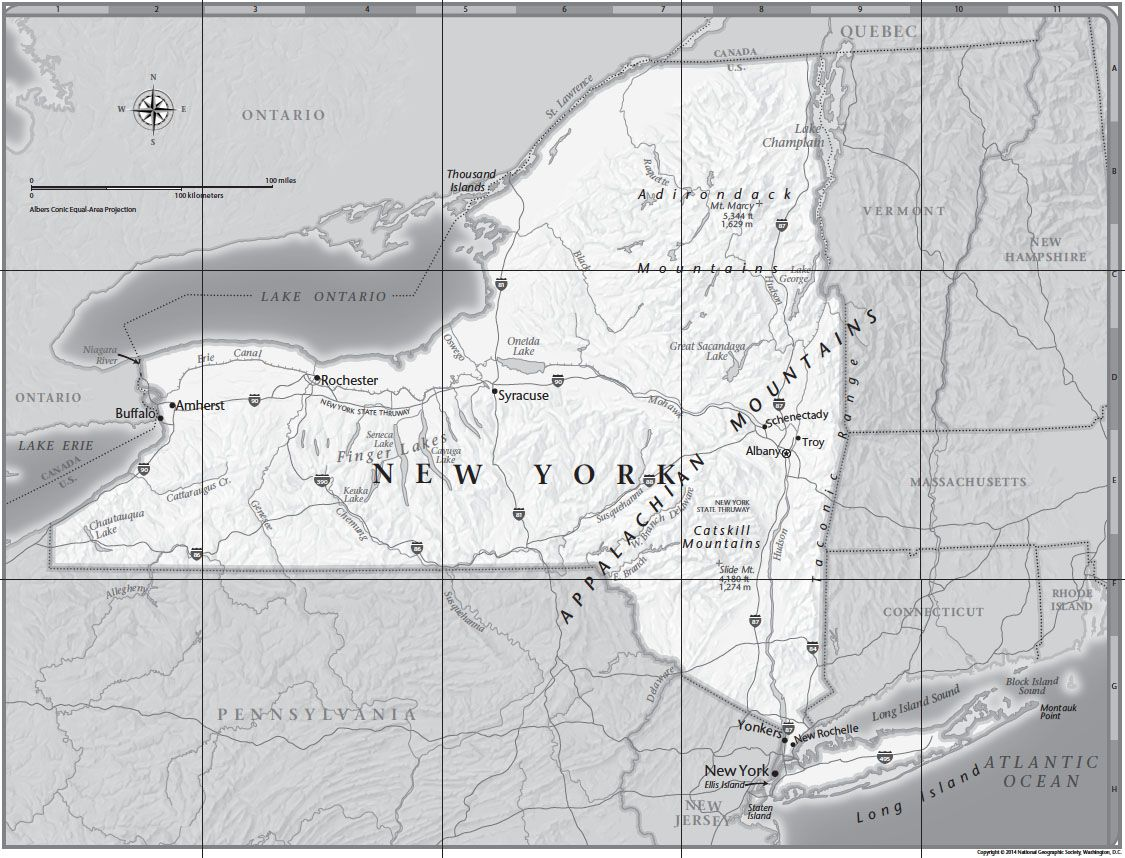 Download New York Map.New York Tabletop Map National Geographic Society