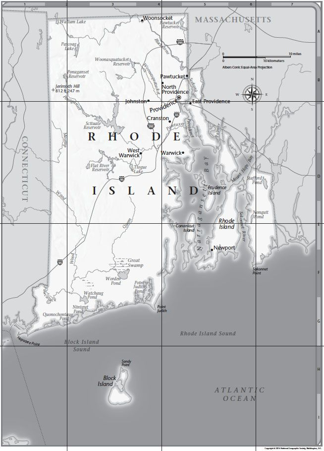 Rhode Island Tabletop Map | National Geographic Society