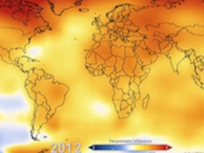 Global Temperature Anomalies 1880-2012e