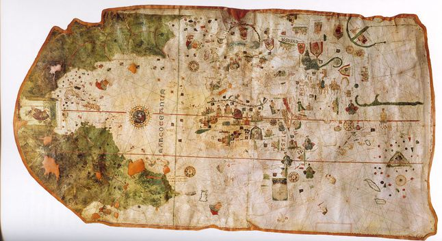 It Was Drawn By Juan De La Cosa A Cartographer Who Accompanied Christopher Columbus On His First Voyage To