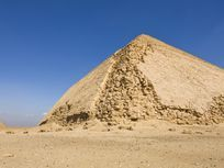 The Bent and Red pyramids are a UNESCO World Heritage Site in Dahshur, Egypt.