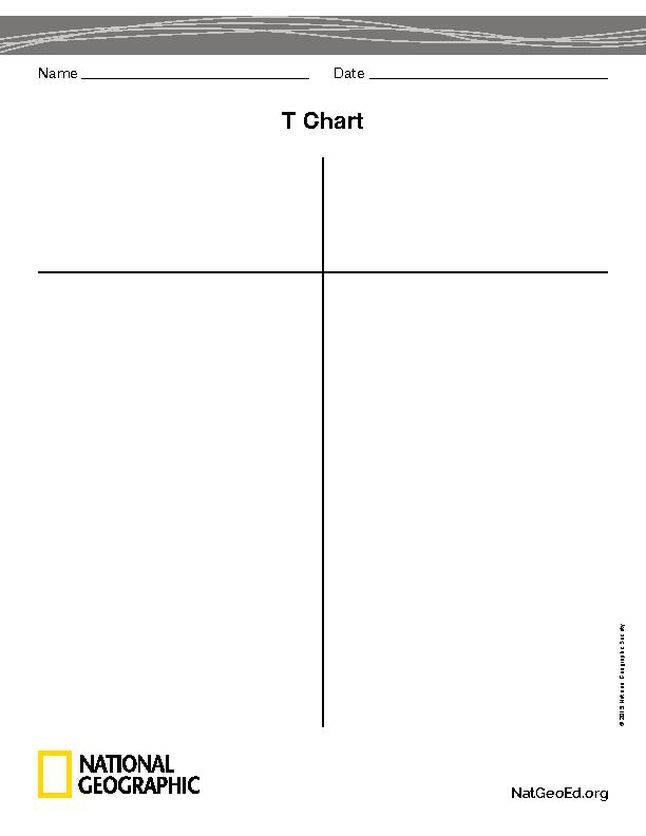 T Chart - National Geographic Society