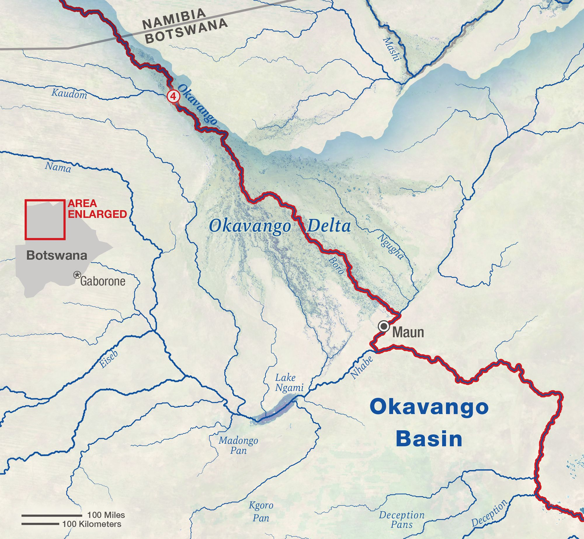 7th Annual Okavango Delta Crossing - National Geographic ... Okavango Basin Map