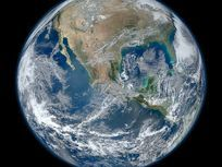 This is an image of Earth taken from the VIIRS instrument aboard NASA's Earth-observing satellite, Suomi NPP.