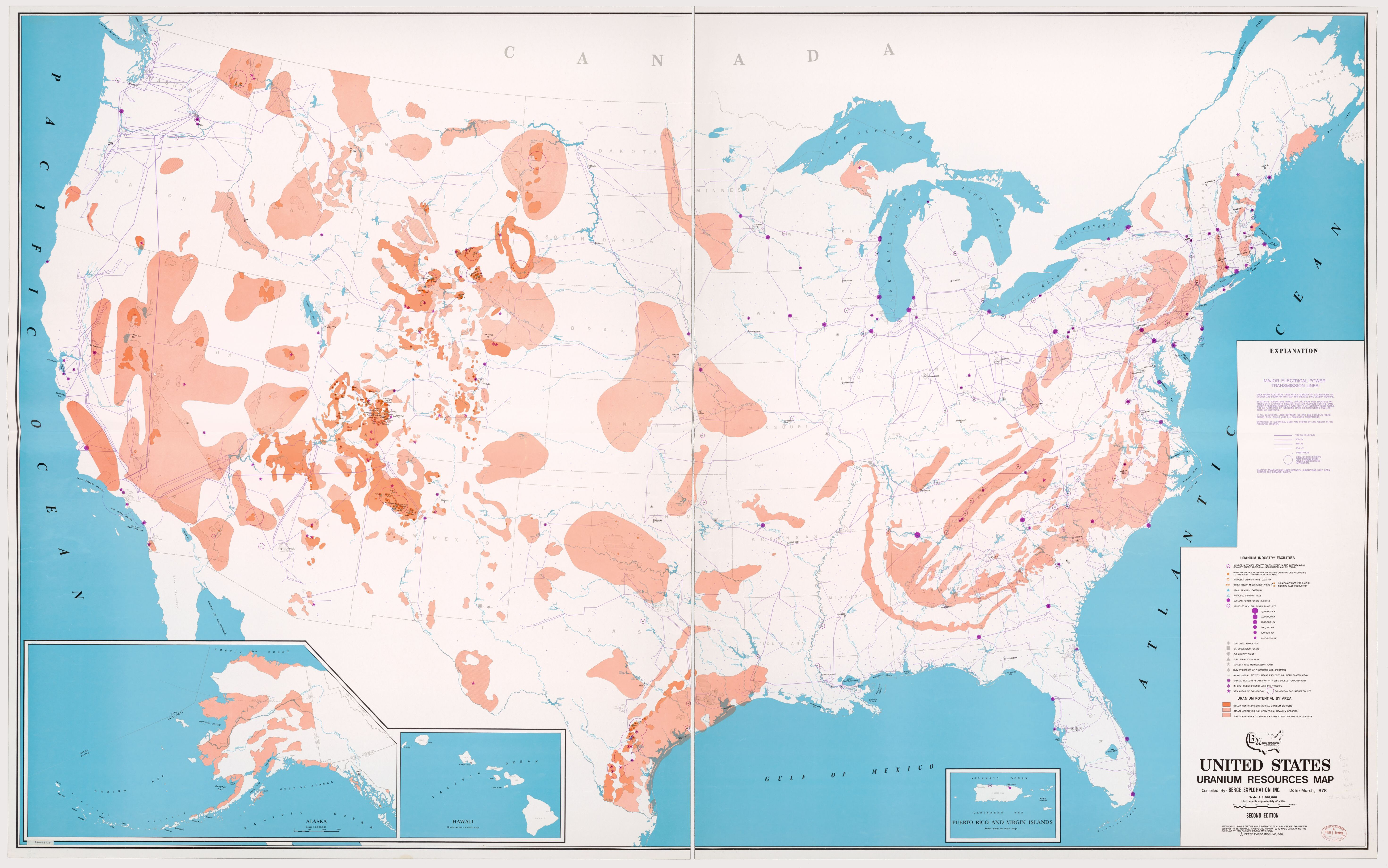 Map Of Uranium Deposits In The Us United States Uranium Resources | National Geographic Society