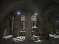 Renovations of the Church of the Holy Sepulchre in Jerusalem's old city. This is thought to be the burial site of Jesus.