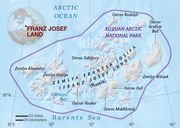 Map of Franz Josef Land