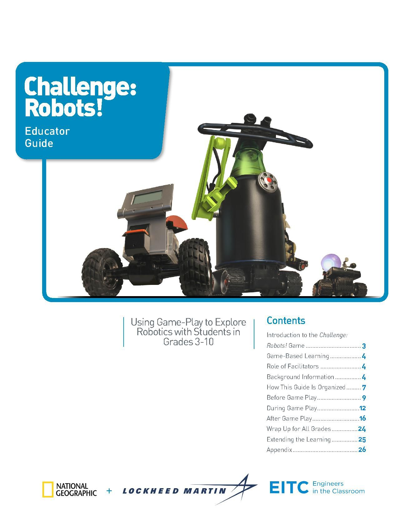 challenge robots educator guide national geographic society rh nationalgeographic org Personal Teacher Fincace Computer Teacher Clip Art