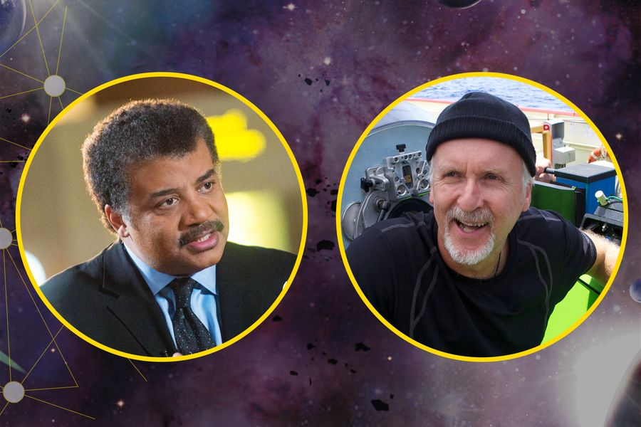Picture of Neil deGrasse Tyson and James Cameron