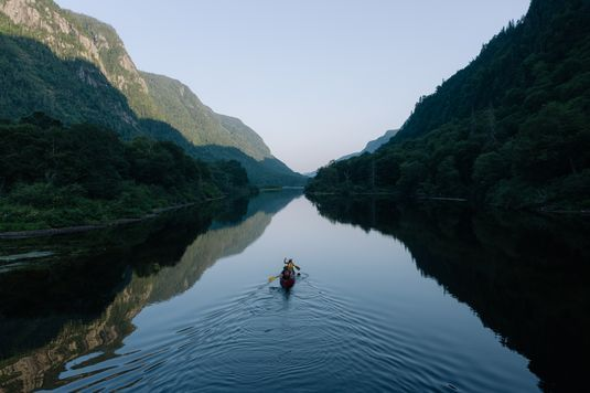 Canoe in a river
