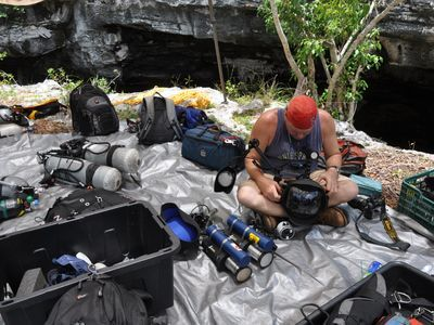 Preparing gear for the expedition
