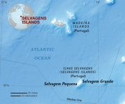 Map of the Selvagens Islands